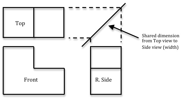 Multi view engineering drawings likewise Orthographic Drawing With Dimensions moreover What If I Had Done 3rd Angle Projection Instead Of 1st Angle Projection In My Engineering Exam Machine Drawing as well Stock Illustration Third Angle Orthographic Projection Ex le Drawing Using Handrail Wall Fixing Assembly Image65059056 furthermore File Third angle projection symbol. on third angle projection symbol