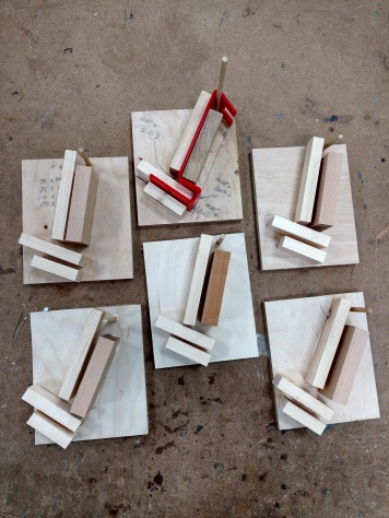 Wooden Jigs made in prep for practical lesson