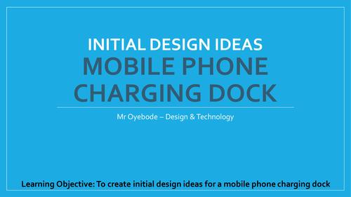 initial design ideas - mobile phone charging dock