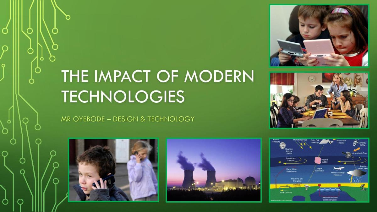 Design Technology Resources: The Impact of Modern Technologies