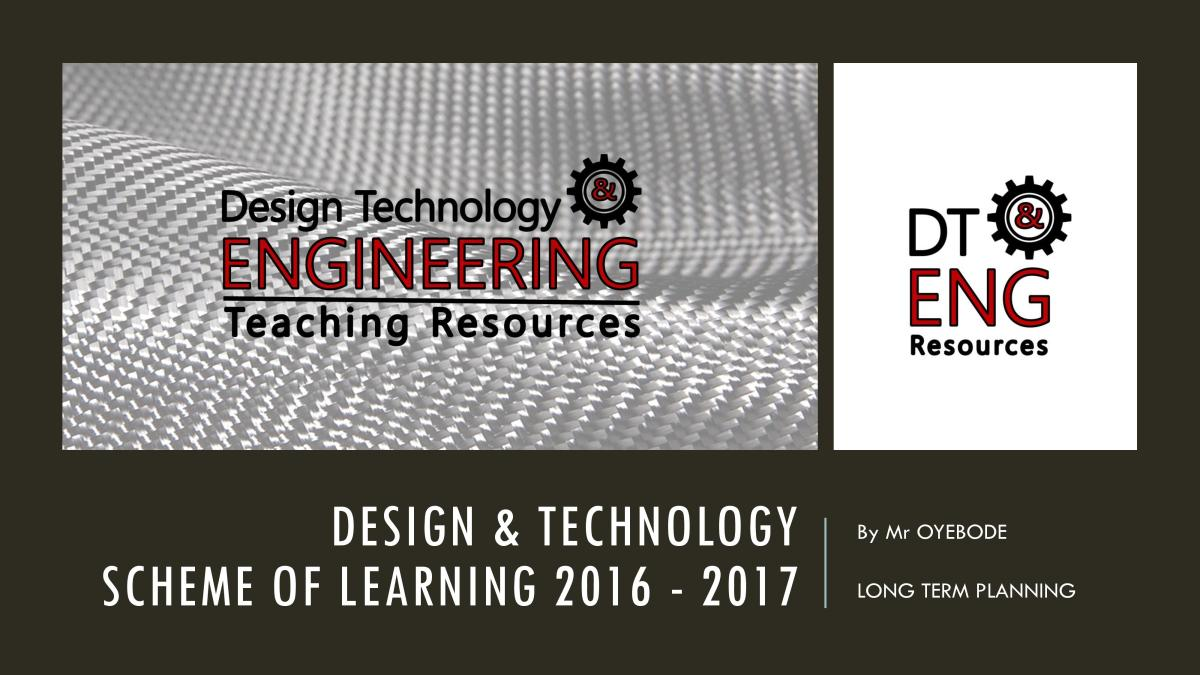 Design & Technology Scheme of Learning 2016 - 2017 (Long Term Planning)