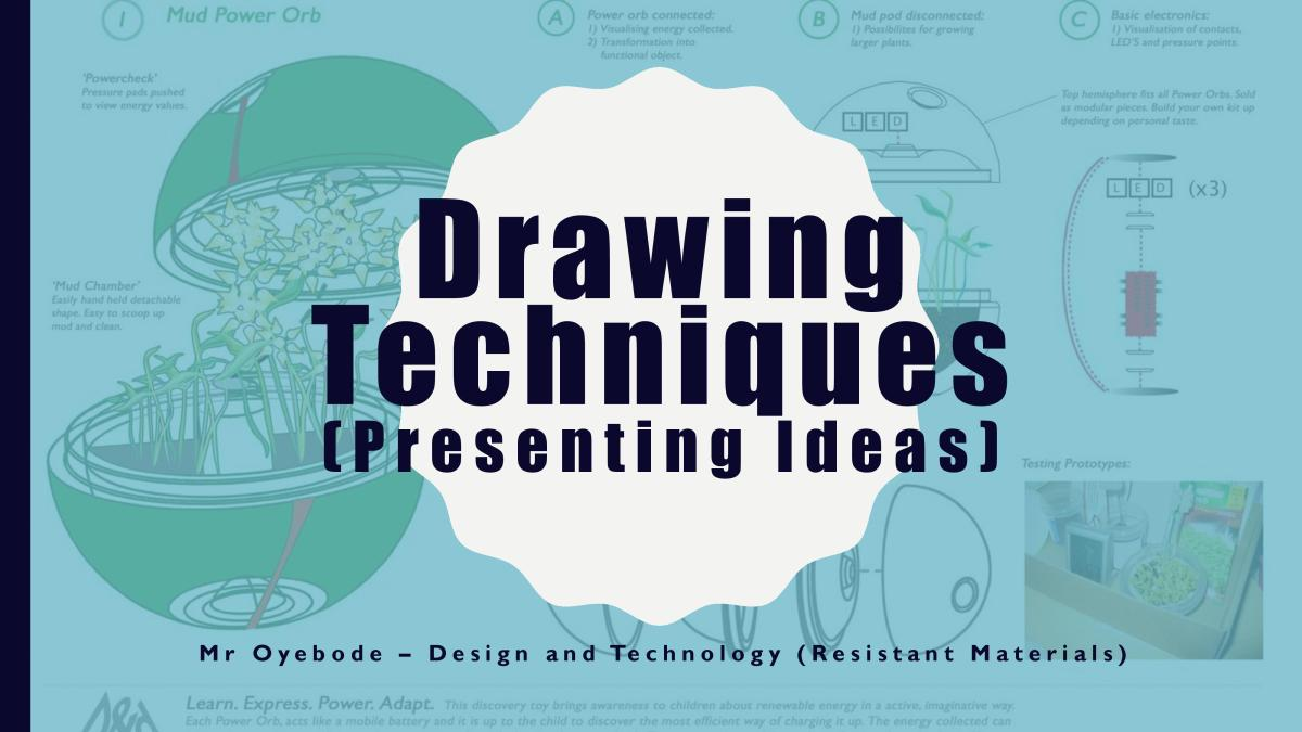 Design and Technology Resources: Drawing Techniques (Presenting Ideas)