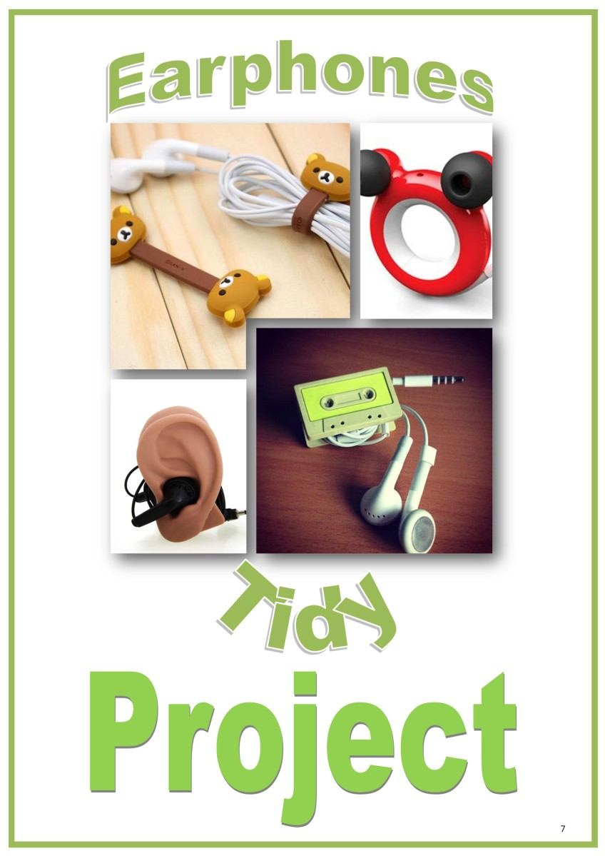 Design and Technology Resources: Year 7 Project Booklet - Earphones Tidy