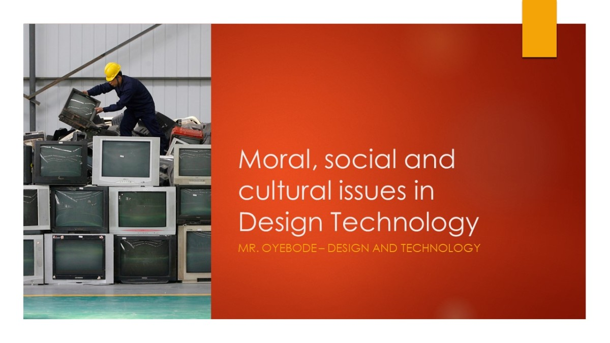 Design Technology Resources: Years 7 and 8 - Moral, social and cultural issues in Design Technology