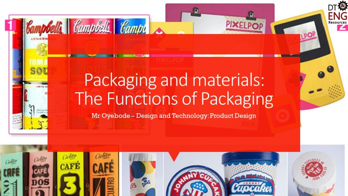 Design Technology Resources: The Functions of Packaging