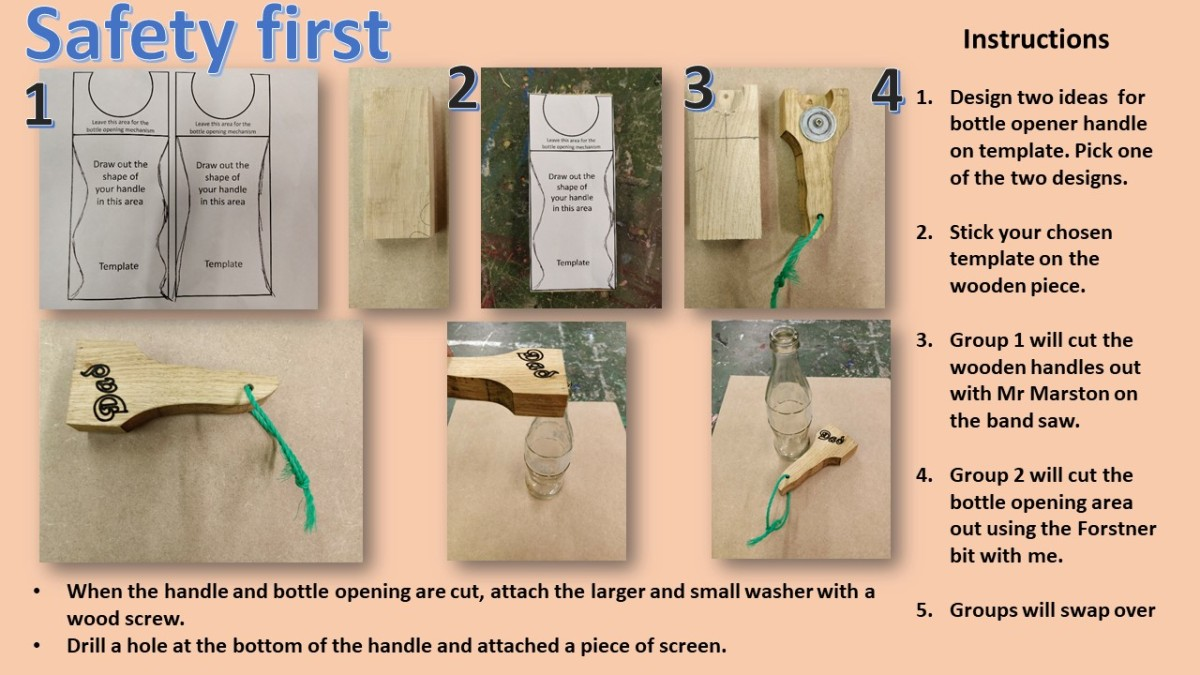 Design Technology Resources: Wooden bottle opener project